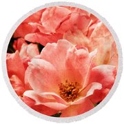 Aged Rose  Round Beach Towel
