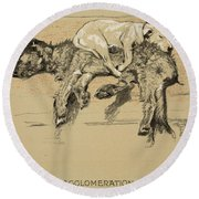Agglomeration Round Beach Towel by Cecil Charles Windsor Aldin