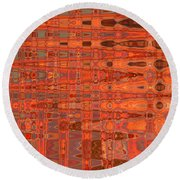 Aging Gracefully - Abstract Art Round Beach Towel