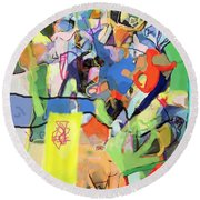 Self-renewal 15q Round Beach Towel