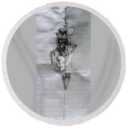 Self-renewal 5a Round Beach Towel