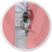 Self-renewal 5b Round Beach Towel