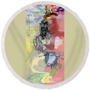 Self-renewal 5c6 Round Beach Towel