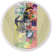 Self-renewal 5c7 Round Beach Towel