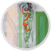 Self-renewal 8a Round Beach Towel