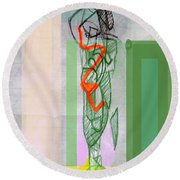 Self-renewal 8b Round Beach Towel