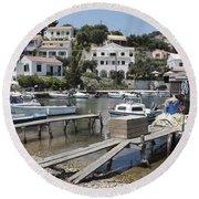 Agios Stefanos Corfu Round Beach Towel