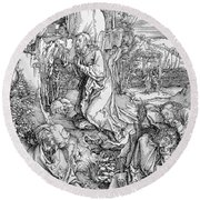 Agony In The Garden From The 'great Passion' Series Round Beach Towel