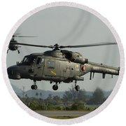 Agustawestland Lynx Helicopters Round Beach Towel