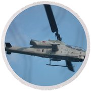 Ah-1 Cobra Round Beach Towel