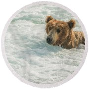 Ahh Whirlpool Time Round Beach Towel
