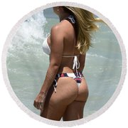 Beauty Of Brazil 1 Round Beach Towel