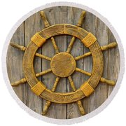 Ahoy Sailor Round Beach Towel