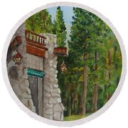 Ahwahnee Woods Round Beach Towel