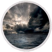Air And Water No.25 Round Beach Towel