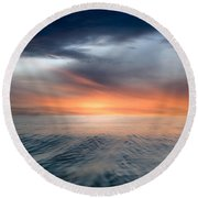 Air And Water No.57 Round Beach Towel
