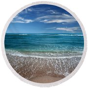 Air And Water No.88 Round Beach Towel