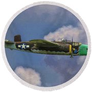 Air Apaches B-25j Round Beach Towel