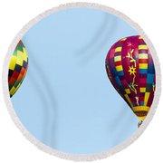 Air Balloons  0208 Round Beach Towel