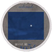 Air Force Falcons Colorado Springs Colorado College Town State Map Poster Series No 006 Round Beach Towel