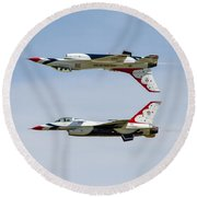 Air Force Thunderbirds Round Beach Towel