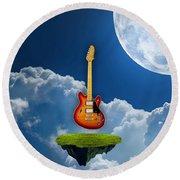 Air Guitar Round Beach Towel