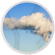 Air Pollution Round Beach Towel