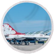 Air Show Thunderbirds  Round Beach Towel