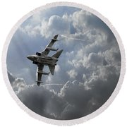 Air Superiority Round Beach Towel