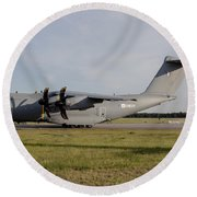 Airbus A400m For The French Air Force Round Beach Towel