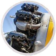 Aircraft Engine 3 Round Beach Towel