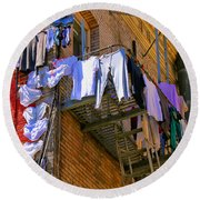 Airing Out The Drawers By Diana Sainz Round Beach Towel