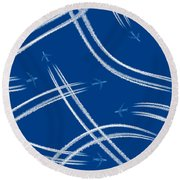 Airliners Gone Wild Round Beach Towel