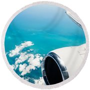 Power And Beauty Round Beach Towel