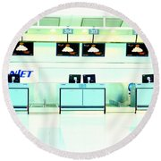 Airport Counters Round Beach Towel