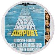 Airport Round Beach Towel