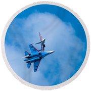 Airshow St Petersburg Russia Part 2 Round Beach Towel