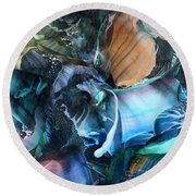 Akashic Memories From Subsurface Round Beach Towel