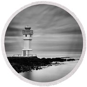 Akranes Lighthouse Round Beach Towel