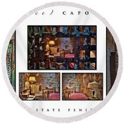Al Scarface Capone's Cell Round Beach Towel
