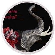 Alabama Football Roll Tide Round Beach Towel by Kathy Clark