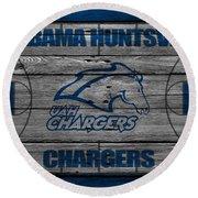 Alabama Huntsville Chargers Round Beach Towel