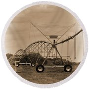Alabama Irrigation System Vignette Round Beach Towel