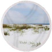 Alabama Point 1 Round Beach Towel