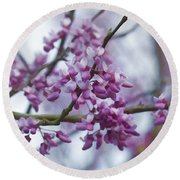 Alabama Redbuds Round Beach Towel