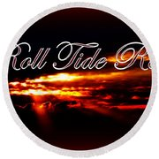 Alabama - Roll Tide Round Beach Towel