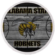 Alabama State Hornets Round Beach Towel