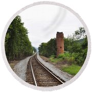 Alabama Tracks Round Beach Towel