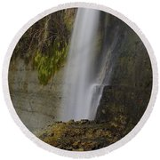 Alabama Waterfall Round Beach Towel