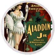 Aladdin Jr Amazon Round Beach Towel